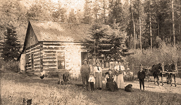 Edwin Botts homestead in Echo Valley ca 1907 (shared by Nancy Woodward)